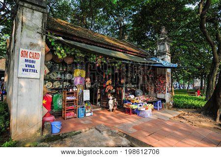 Souvenir Shop At Old Town In Hanoi, Vietnam