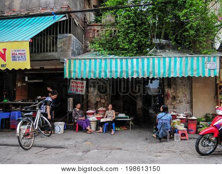 Old Town In Hanoi, Vietnam