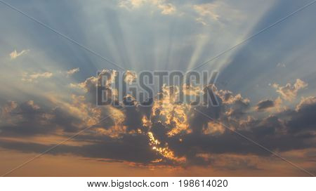 Heaven light from the clouds hope concept abstract
