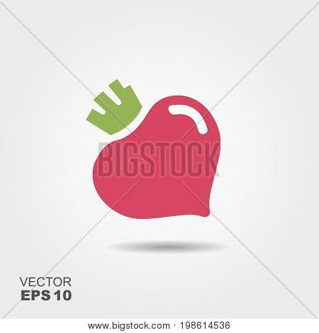 Beet vegetable logo icon template design. Simple flat design beetroot symbol.