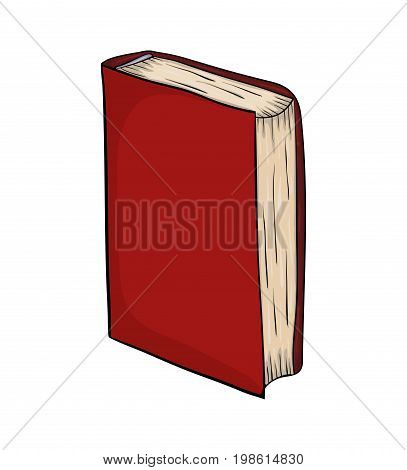 Closed Book Standing Cartoon Vector Symbol Icon Design. Beautiful Illustration Isolated On White Bac