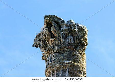 Roman remains in Verige Bay, national park Brioni, Croatia