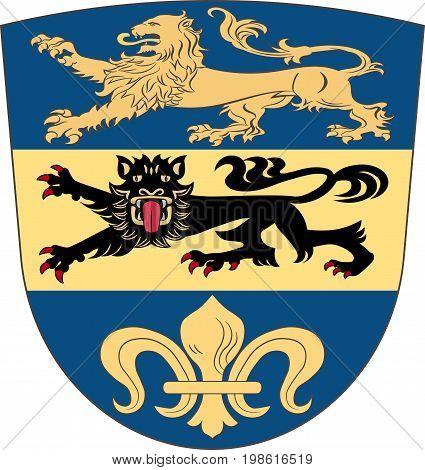 Coat of arms of Dillingen in Swabia Bavaria Germany