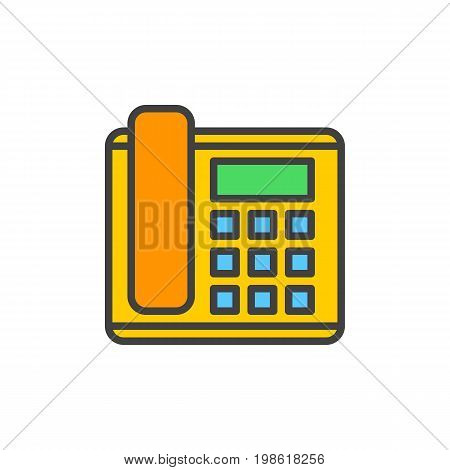 Office phone, telephone filled outline icon, line vector sign, linear colorful pictogram isolated on white. Symbol, logo illustration. Pixel perfect vector graphics