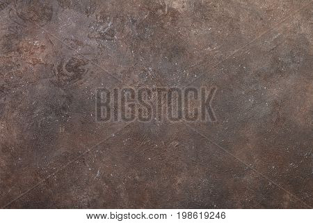 Simple wall dark brown stone texture or background