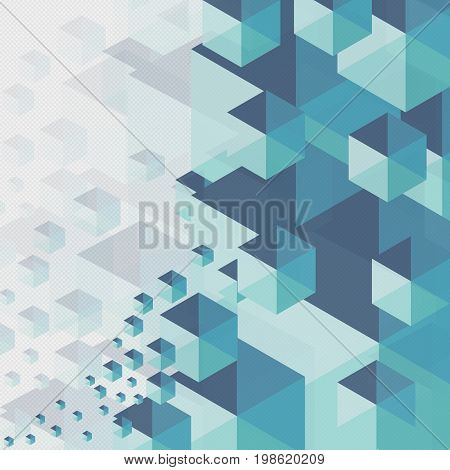 Abstract Background Blue Hexagon On Gray Background