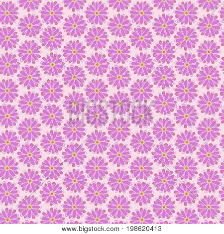 Pink Flower Seamless Patterns