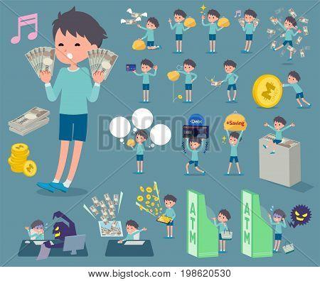 Flat Type Blue Clothing Boy_money