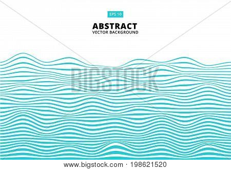 Abstract blue lines wave Wavy stripes pattern Rough surface Vector Illustration