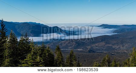 Top Of Richardson Mountain In National Park Of Gaspe In Quebec, Canada