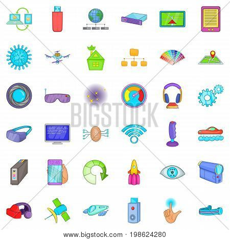 Radio technology icons set. Cartoon style of 36 radio technology vector icons for web isolated on white background