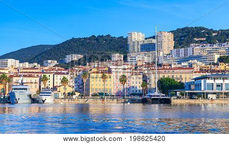 Ajaccio, Coastal Cityscape In Summer Time