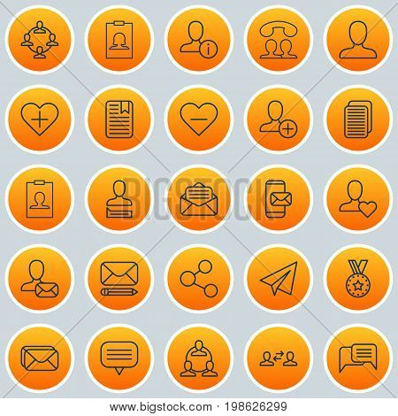 Network Icons Set. Collection Of Web Profile, Team Organisation, Mailbox And Other Elements