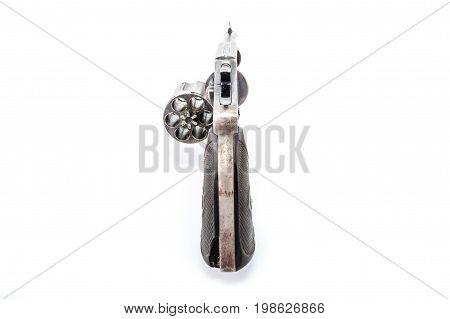 Details of a 1929 38 Caliber Police Special Revolver