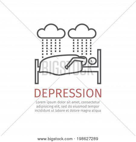 Depression sign. Vector icon for web graphic.