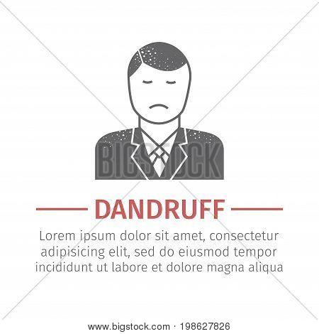 Dandruff sign. Vector icon for web graphic