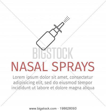 Nasal Sprays. Vector icon for web graphic.