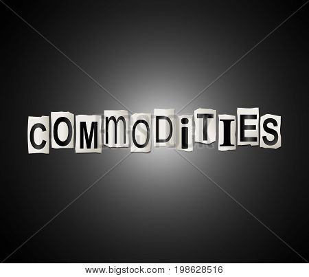 Commodities Word Concept.