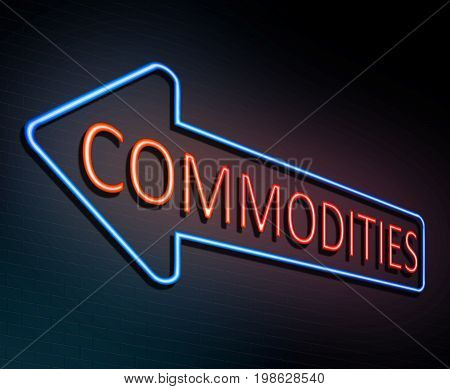Neon Commodities Concept.