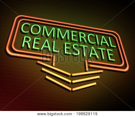 Commercial Real Estate Concept.