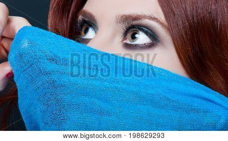 Fantasy Woman With Beautiful Hazel Eyes