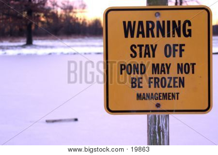 Not Frozen Sign