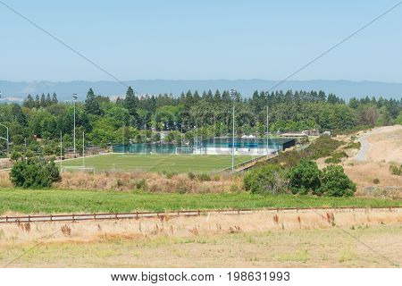 Soccer field and park Mountain View California