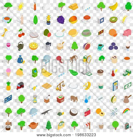 100 sri lanka icons set in isometric 3d style for any design vector illustration