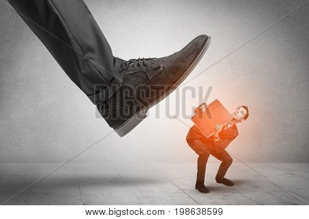 Large formal shoe stepping down young small entrant man