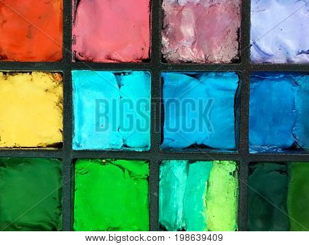 Face Painting Colours Background And Texture