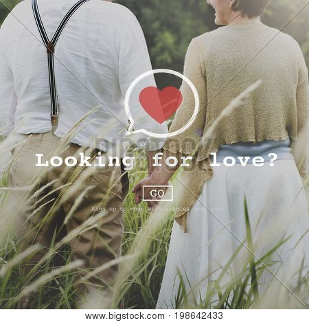 Looking for Love Valantine Romance Heart Dating Passion Concept