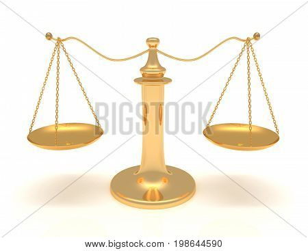Isolated Weighing Scales  3D Rendered Illustration