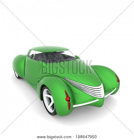 Generic ecological model of car 3d rendering