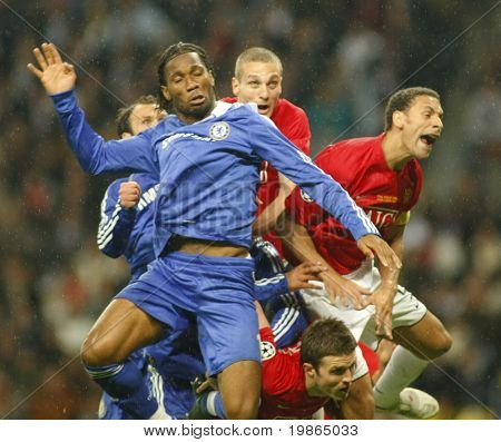 Didier Drogba at the Champions League Final held at Luzhniki Stadium Moscow 21 May 2008 and contested by Manchester United v Chelsea FC