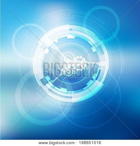 Glow spin neon circles abstract background. Vector illustration
