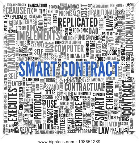 Smart Contract. Tag Cloud