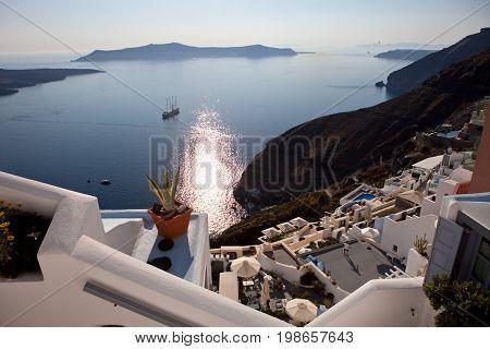 Caldera view, Santorini Island, Greece, summer 2017