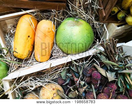 Variety Of Tropical Fruits
