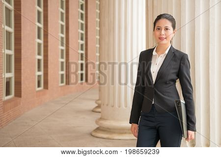 Lawyer Manager Standing In Justice Court Outdoor