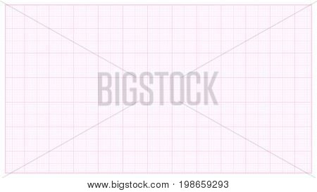 Millimeter Paper Vector. Pink. Graphing Paper For Technical Engineering Projects. Grid Paper Measure