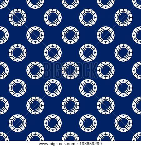 Seamless Travel Pattern with Porthole Marine Tourism Concept Vector Illustration