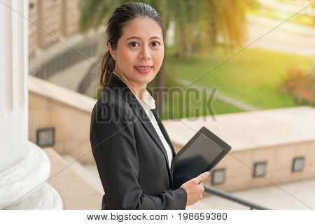 Business Lawyer Holding Technology Mobile Pad