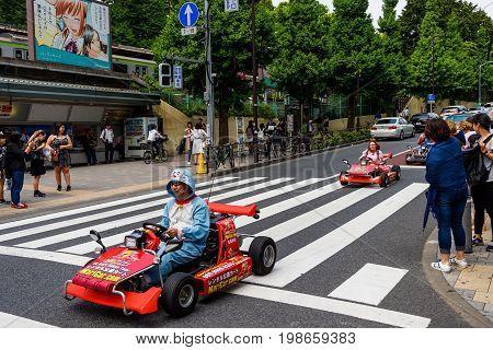 Doraemon Drive Car To Promote Game, Tokyo