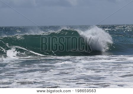 Medium Size Beautiful Wave at Breaking Point