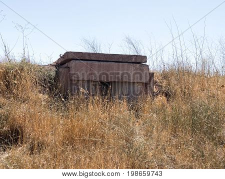 Combat  Bunkers Left From The Time Of The War Of The Doomsday (yom Kippur War) On The Golan Heights,