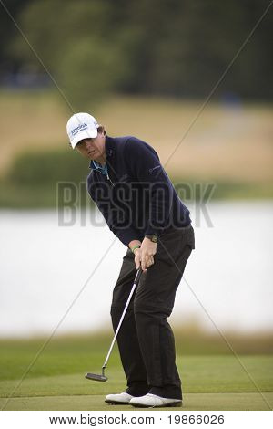 KENT UK JULY 6. Northern Ireland's Rory Mcilroy competing at the PGA European Tour European Open at the London Golf Club Ash Kent England from the 2nd to 6th July 2008