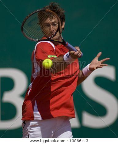MONTE CARLO MONACO APRIL 24 Juan Carlos Ferrero Spain competing at the ATP Monte Carlo Masters in Monaco