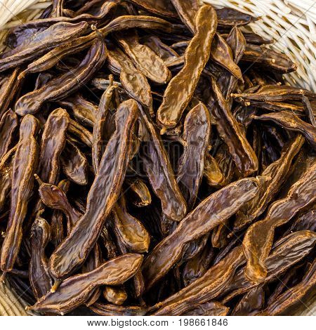 Background of brown locust for sale market
