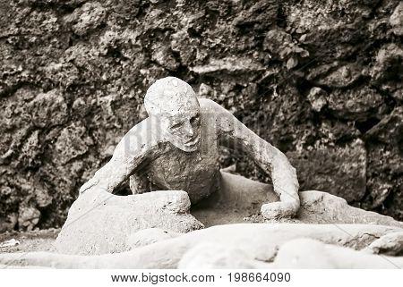 Victim of Pompey's eruption of Mount Vesuvius of 79 BC