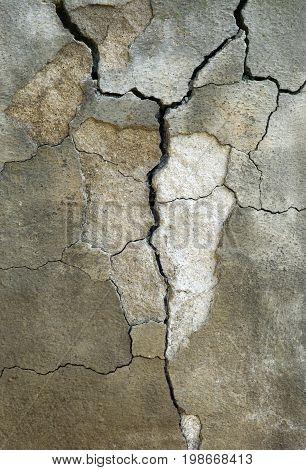 Broken Concrete background, brown, dirty, crack  structure